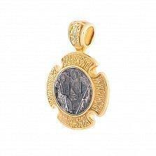 Серебряная ладанка с позолотой и чернением Знамение