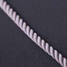 Шелковый шнурок Сильверс с гладкой золотой застежкой, 2мм