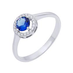 Серебряное кольцо Мэган со шпинелью и белыми фианитами