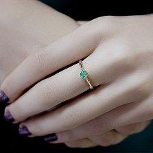 Кольцо из красного золота с изумрудом Фиби