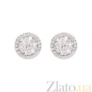 Золотые серьги с бриллиантами Валерия 1С193-0242