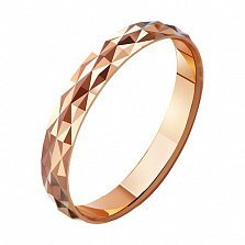 Золотое обручальное кольцо Волшебный мир