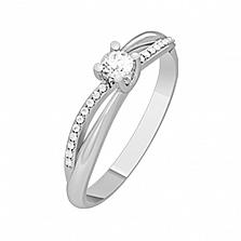 Золотое кольцо с бриллиантами Звездный путь