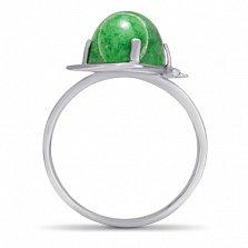 Серебряное кольцо Эльвира с хризопразом
