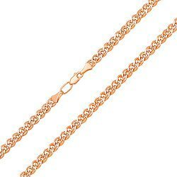 Цепочка из красного золота с алмазной гранью, 3мм 000101561