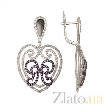 Сережки из белого золота Валентина VLT--ТТТ2355