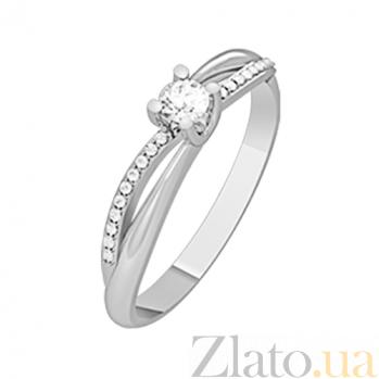 Золотое кольцо с бриллиантами Звездный путь KBL--К1120/бел