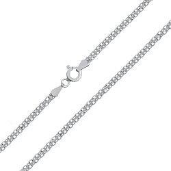 Серебряная цепь Калькутта с родием, 3 мм 000026100