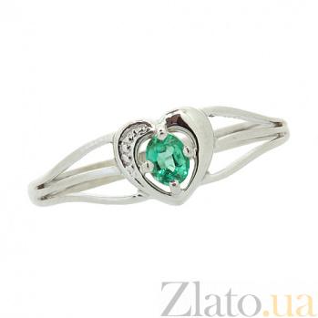 Серебряное кольцо с изумрудом Марта 000022148