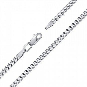 Срібний браслет з родіюванням, 4мм 000118118