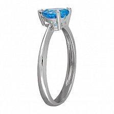 Кольцо из белого золота Свитти с топазом и бриллиантами