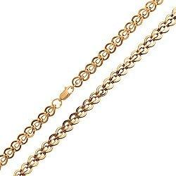 Золотая цепочка Сердце красавицы  000046985