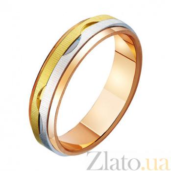 Золотое обручальное кольцо Любви круговорот TRF--471113
