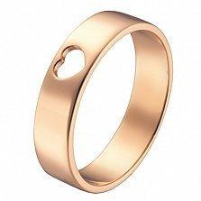 Кольцо в красном золоте Сердечко