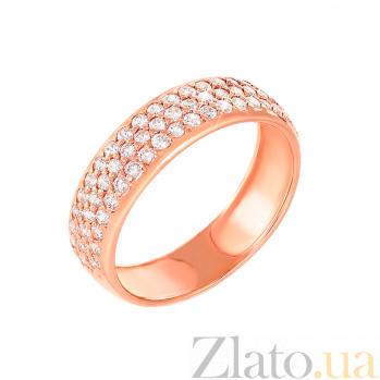 Золотое кольцо Тоскана с цирконием 11906