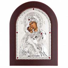 Серебряная икона Божьей Матери Владимирская