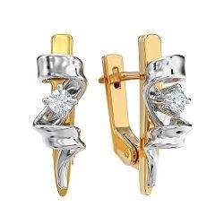 Золотые серьги с бриллиантами Свидание