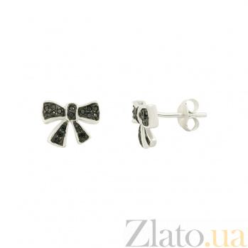 Серебряные серьги с фианитами Роннет 3С203-0038