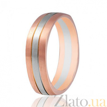 Золотое обручальное кольцо Тайна нежности 000001665