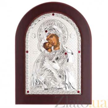 Серебряная икона Божьей Матери Владимирская AQA--MA/E1110B