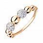Золотое кольцо в комбинированном цвете с цирконием 000141406