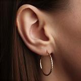 Серьги-кольца из красного золота Шакира диаметр 3 см