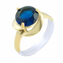 Кольцо из серебра и бронзы Эмма с сапфиром