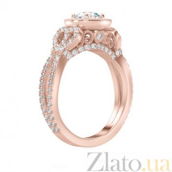 Кольцо с бриллиантами из розового золота Пробуждение радости 867