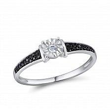 Кольцо Марта из белого золота с бриллиантами