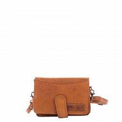 Кожаная мужская сумка HILL BURRY 3172 коричневого цвета с карманом для телефона