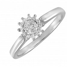 Кольцо из белого золота Астра с бриллиантами