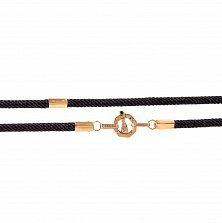 Ювелирный шнур из золота и плетеного шелка Люксембург в стиле Барака