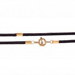 Ювелирный шнурок из золота и плетеного шелка Люксембург в стиле Барака 000068459