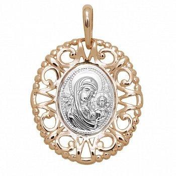 Ладанка Божья Матерь с младенцем в красном золоте 000046220