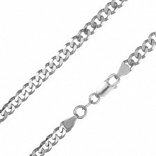 Серебряная цепь Элис в панцирном плетении с алмазной гранью, 3,5мм