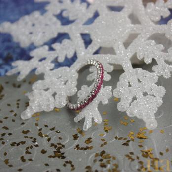 Серебряное кольцо рубинами Каприз ZMX--RR-15011-Ag_K