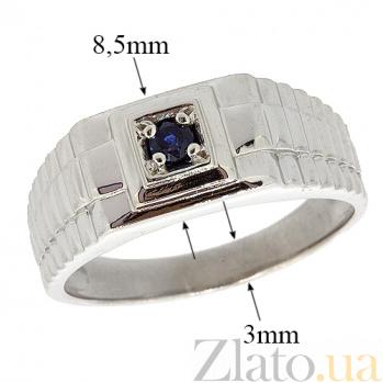 Серебряный перстень с сапфиром Сила ZMX--RS-3671-Ag_K
