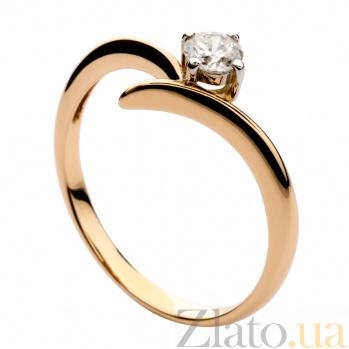 Золотое кольцо с бриллиантом Ирена 000030474