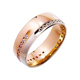 Золотое обручальное кольцо Нинон