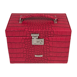 Красная шкатулка для украшений Kroko