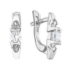 Серебряные серьги с цирконием Сунитта