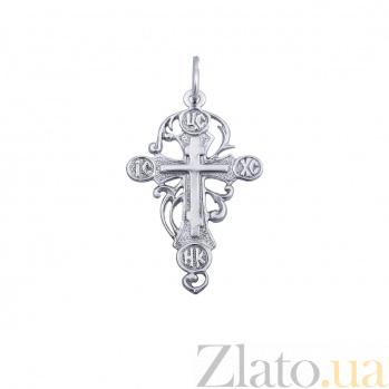 Крест серебряный ажурный Послание свыше AQA--74075