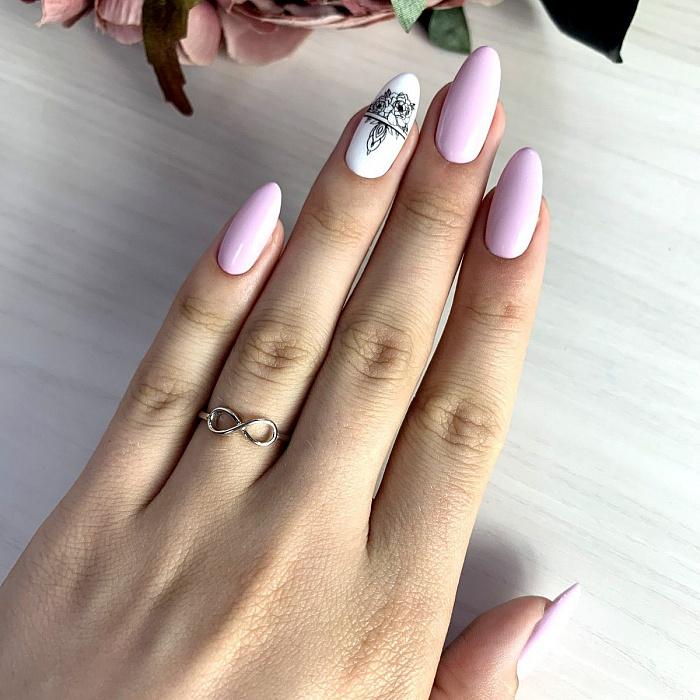 Серебряное кольцо Инфинити с символом бесконечности 000119468