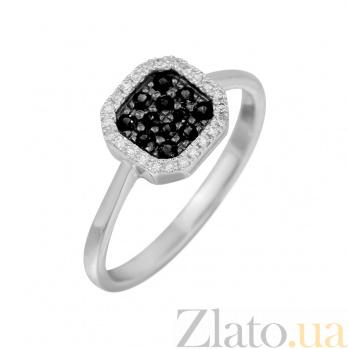 Золотое кольцо с черными бриллиантами Ночное небо 000032300