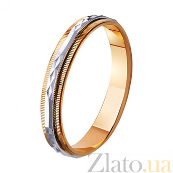 Обручальное кольцо из комбинированного золота Забота TRF--441110