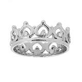 Серебряное кольцо Инфанта с бриллиантами