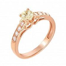 Золотое кольцо Анжелина с кристаллами Swarovski