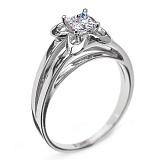 Золотое кольцо с бриллиантом Дионисия