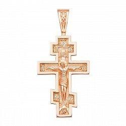 Православный крестик из красного золота 000136250