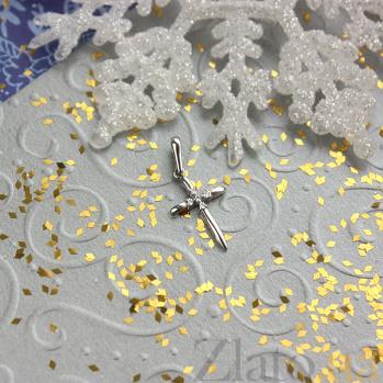 Крестик из белого золота Мария с фианитами SVA--310084010201